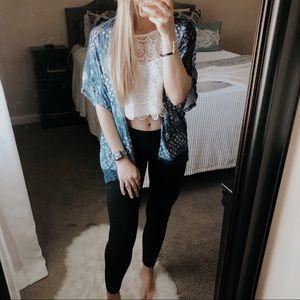 Jessica Simpson Bohemian Short Sleeve Kimono